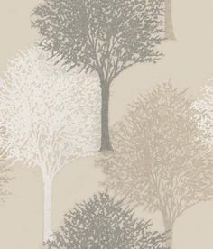 Entice (110096) - Harlequin Wallpapers - A beautiful overlapped tree design with a bead effect showing in silver/grey beads, white and beige on shimmering cream - other colour ways available. Please request a sample for true colour match. Non-woven product but please paste the paper.