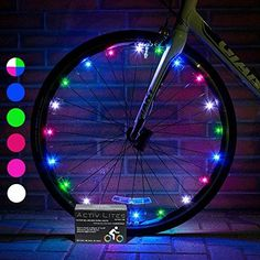Efficient 2pc Safety Led 32 Modes Bike Spoke Warning Light Waterproof Bicycle Wheel Tyre Flashing Light Signal Lamp Reflective Rim Rainbow Traffic Light