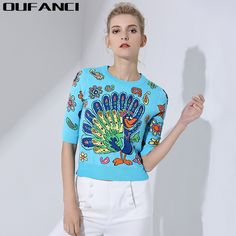 OUFANCI 2017 T-shirts Summer Women O-Neck Half Sleeve T-shirts for women Print Animal Short T-shirt female Crop Top Tees Women