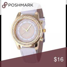 Geneva Leather Wristwatch Analog Quartz Stainless Steel Women's Watch NWOT- Never Worn Accessories Watches
