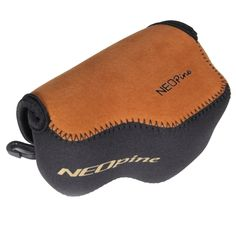 [$4.51] NEOpine Neoprene Soft Case Bag with Hook for Sony A6000 Camera 16-50mm Lens(Brown)