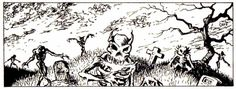 Undead humans, demi-humans, and animals rise to guard Bone Hill. From AD&D module L1: The Secret of Bone Hill, TSR, 1981.