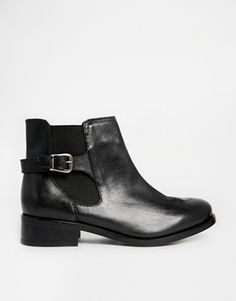 Enlarge New Look Digby Black Leather Chelsea Boots