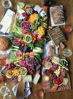 Amazing charcuterie, cheese and vegetable board for your next party.