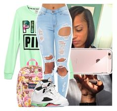 """""""ootd"""" by naebreezy ❤ liked on Polyvore featuring Victoria's Secret, JanSport and Retrò"""