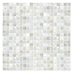 These opalescent glass gems adapt to many color profiles.  Its glossy surface sparkles like bubbling champagne.  A palette of Icy white and Pearl make the St. Lucia glass mosaic extremely versatile.  Use an an accent or as a feature wall installation.  Either way, this stunning mosaic is sure to make a statement.