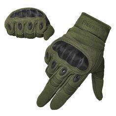 Tactical Gloves Military Rubber Hard Knuckle Outdoor Gloves for Men Full Finger #FREETOO