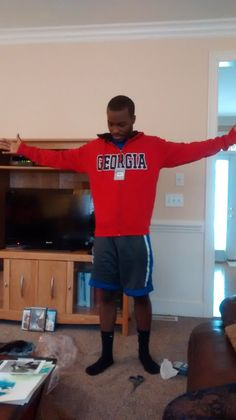 My son Darrien Douglass Bailey born in Lawrenceville/Duluth, GA got a Georgia jacket for Christmas. Family history of the Bailey's migrating from Newnan, Georgia to Dayton, Ohio. We live in Winterville, NC/Greenville, NC area and Darrien is entering his junior yr at St. Andrews University, NC. http://www.cityofnewnan.org/