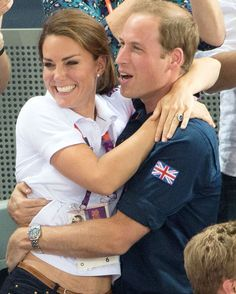 William and Kate at the Olympics. So cute.