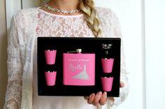 Bridesmaids Gift Set of 4 Bridesmaid Flasks by UrbanLoftTampa