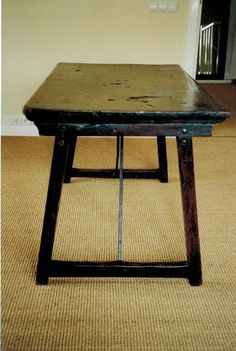 very early 17th C. Spanish Travel Table never been restored! Have much more information for you.