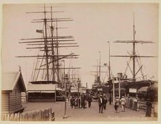 Port Melbourne Pier in Australia Photos, Melbourne Australia, Brisbane, Melbourne Victoria, Victoria Australia, Old Pictures, Old Photos, Melbourne Suburbs, Photography Pics