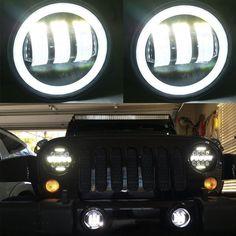2X 4inch 30W CREE LED Fog Light Lamp White 6000K DRL for Jeep Wrangler JK Dodge