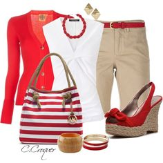 """Sandals with Bow"" by ccroquer on Polyvore"