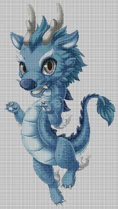 Dragon+Baby+cross+stitch+pattern+in+pdf+DMC