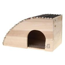 Small Pet Hamster Guinea Pig Rabbit Wood House Cave Kennel