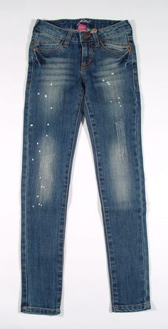 Pinc Premium Girls Skinny Jeans with Splatter