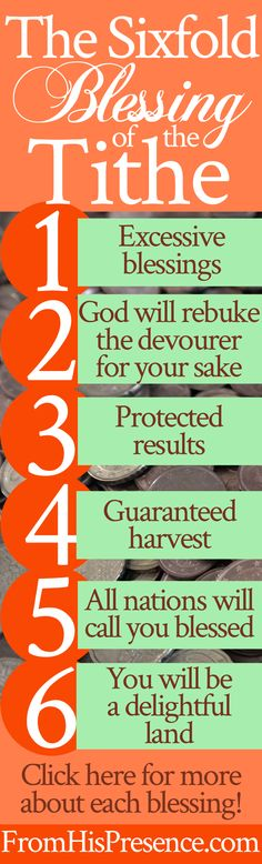Sixfold blessing of the tithe   prayer   personal finance   giving   stewardship   money   breaking curses   God's blessing