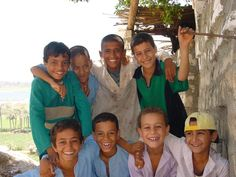 Children from Mit Rahina, Memphis Egypt