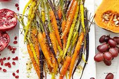 Dukkah rainbow carrots