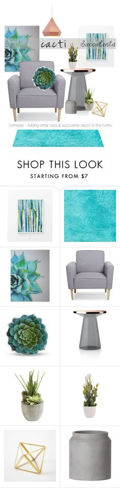 """cacti & succulents : homeset"" by charisloves ❤ liked on Polyvore featuring interior, interiors, interior design, home, home decor, interior decorating, WALL, Dot & Bo, Ethan Allen and West Elm"