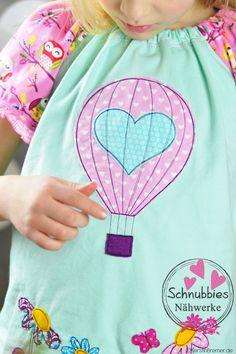 Heißluftballon mit Herz ♥ Eine Doodle Stickdatei von Stickdesign Kerstin Bremer / KerstinBremer.de ♥ #nähen #sticken #nähmalen