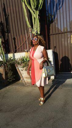 In My Joi Thrift Store Score: Vintage Diagonal Color Block Dress