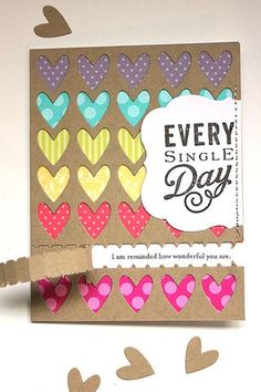 Movers & Shakers Revisited - Every Single Day Card by Heather Nichols for Papertrey Ink (February 2014)