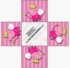 Peppa Pig Hada: cajas para imprimir gratis. Peppa Pig Printables, Free Printables, Candy Box Template, The Incredibles 1, Pig Candy, Cumple Peppa Pig, Kids Sandbox, Beatles Party, Printable Box