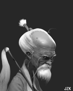 a old man , zhongkun Ji on ArtStation at https://www.artstation.com/artwork/KEdyX