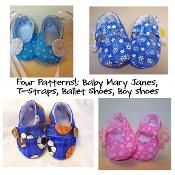 Baby Shoes Pattern Bundle; 4 patterns  - via @Craftsy