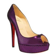 christian louboutin lace square-toe slippers