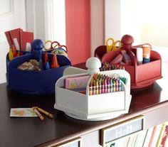 lazy susan for kids art supplies