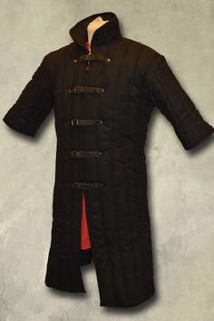 Leopold Gambeson - Black - Short Sleeve, LARP Inn - Epic Armoury- For LARP, theatre and film- LARP Inn