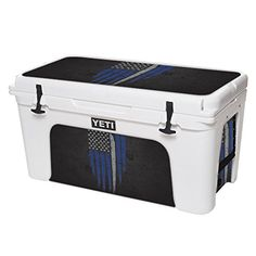 MightySkins Protective Vinyl Skin Decal for YETI Tundra 75 qt Cooler wrap cover sticker skins Thin White Line * You can get additional details at the image link.-It is an affiliate link to Amazon. #CampKitchenEquipment