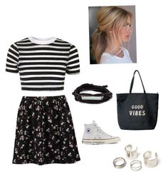 """""""Go ahead, mix your prints!"""" by meganjuliana on Polyvore featuring TOM TAILOR, Topshop, Converse and Venus"""