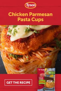 Tyson Chicken Nuggets topped on a bed of angel-hair pasta cups isn't Nonna's average chicken-parm. Tap the Pin to get the recipe. keto diet for beginners Pork Recipes, Pasta Recipes, Chicken Recipes, Dinner Recipes, Cooking Recipes, Healthy Recipes, Cooking Gadgets, Healthy Breakfasts, Crockpot Recipes