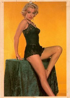Marilyn Monroe postcard, 1951.