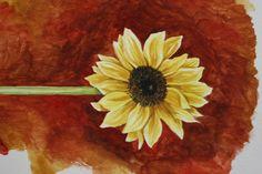 Sunflower     watercolor by Jacqueline Zuckerman