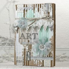 shari carroll - Art journal http://www.simonsaysstampblog.com/blog/altered-art-journal-cover/