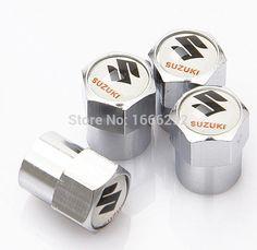 4x Hexagon Wheel Tyre Tire Valve Core Stems Air Dust Caps Cover Kit for Suzuki