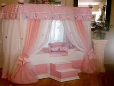 Princess Canopy Bed S Furniture Beds Toddler Curtains