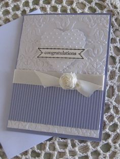 Stampin' Up Handmade Greeting Card: Wedding Congratulations