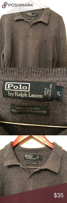 M XL Polo 100% lambswool sweater excellent!! Very nice polo sweater 100% lambswool. Excellent condition no rips or tears or stains. Sweaters