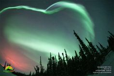 Photos taken of the northern lights above the AuroraMax Observatory in Yellowknife Canada