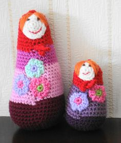 Crocheted Russian nesting dolls Crochet Creations by ...