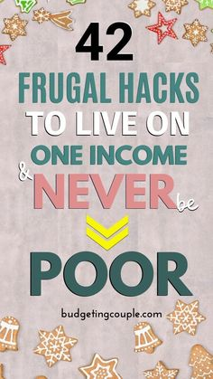 NEVER be poor while living on one income👨👩👧👦 with these 42 genius (yet simple) frugal living hacks and money saving tips! Start saving money on autopilot and end your paycheck to paycheck lifestyle Best Money Saving Tips, Money Tips, Saving Money, Money Budget, Money Hacks, Frugal Living Tips, Frugal Tips, Budgeting Finances, Budgeting Tips