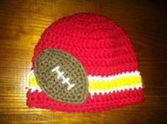 Crocheted Kansas City Chiefs hat beanie by CrochetedbyKristina