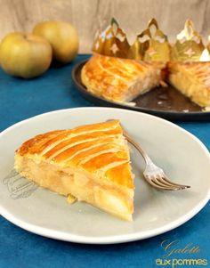 La galette des rois aux pommes ! Une recette maison délicieuse et légère pour l'épiphanie, avec des pommes fondantes et une pâte ultra croustillante !