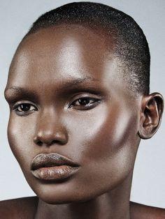 African model prominent cheekbones
